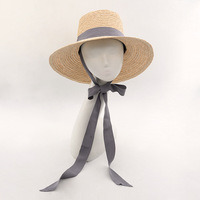Muchique Bucket Hat Summer Beach Sun Hats for Women 2017 Raffia Straw Hats with Ribbon Tie