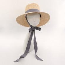 Muchique Bucket Hat Summer Beach Sun Hats for Women 2017 Raffia Straw Hats with Ribbon Tie