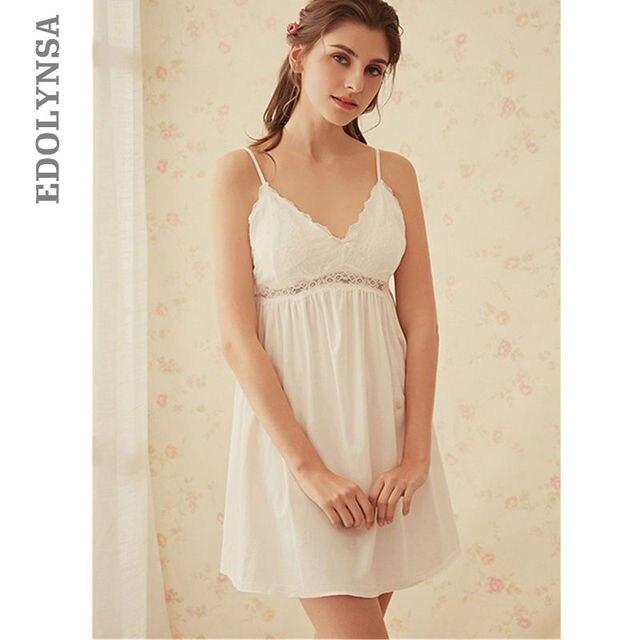 5e5a2af2bac Women Sexy Lingerie Sleepwear Women Plus Size Nightdress Strap Hot Sleep  Wear Nightly Slip Dress Nightwear Cotton Nightgown T189