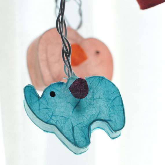 2018 New Arrival 3M Elephant Models Paper String Lighting Night lamp Children Room Decor Holiday lights EU/UK Plug Luminaria