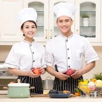 Chef Wear Short Sleeved SHIRT Hotel White Short Sleeved Restaurant Kitchen Work Uniforms
