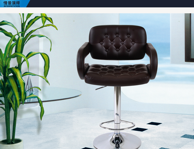 bar chair office computer lifting stool PU leather green red black color furniture shop retail wholesale 2 pc high quality swivel office furniture computer desk office chair in pu leather chair bar stool new hw50129 2bk