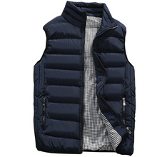 Chaleco de otoño invierno para hombre, chaqueta cálida sin mangas, chaleco informal de moda, 5XL, 2020