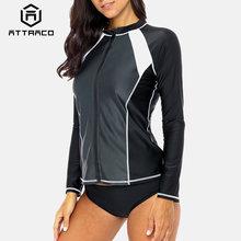 Привлекательная рубашка rashguard женский купальник с длинным