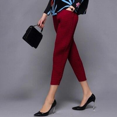 Livraison Pantalon Beauté Sept Mode Mince Fois Navet Gratuite Femelle Noir De Pied wink Red En Pli Spectacle Stock rgnqRrvw5