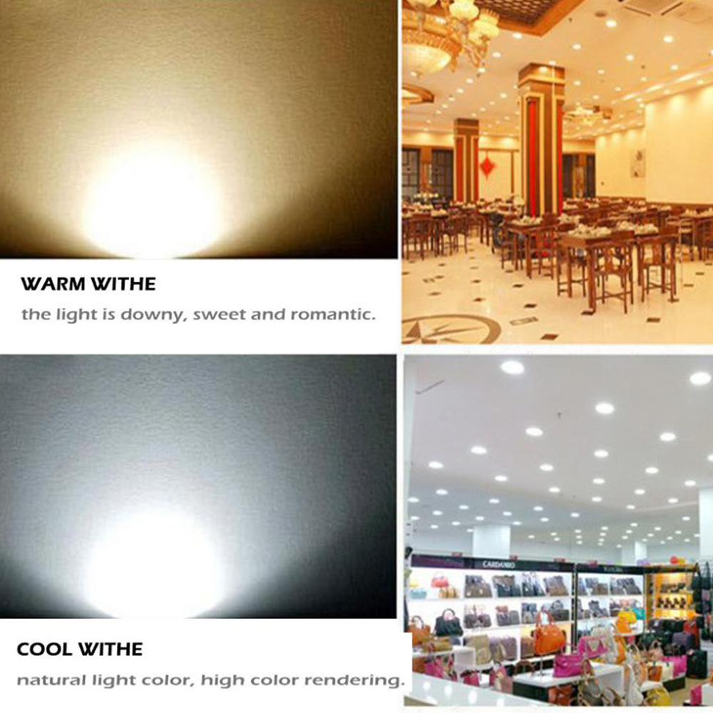 Image 2 - 9W Dimmable LED Downlight Round Recessed Lamp 220V 230V 240V Led Bulb Bedroom Kitchen Indoor LED Spot Lighting z35-in Downlights from Lights & Lighting