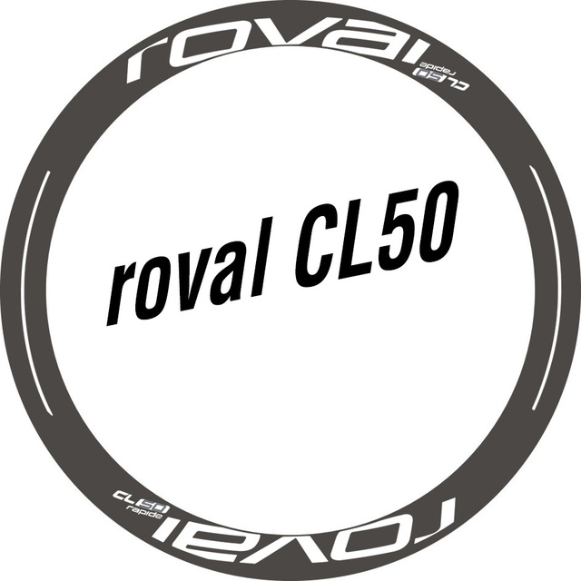 fbc433f9f87 Two Wheel Set Stickers for Roval CL 50 Rim / Disc CL50 for Road Bike Race