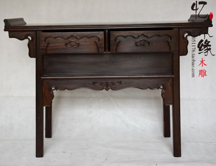 Mahogany furniture mahogany ebony table table table antique wood bar for the entrance hall of Ming and Qing Dynasty Classical Ta диван friendly faces of the qing dynasty rh