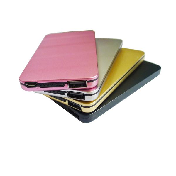 Tarjeta de crédito portable tamaño delgado móvil 4000 mah banco de potencia