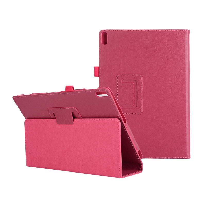 30PCS/Lot Litchi Stand PU Cover Fit For Lenovo Tab 4 10 TB X304 Tab4 10 Plus TB X704 Flip Case By DHL Fedex-in Tablets & e-Books Case from Computer & Office    3