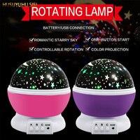 HUSUYUHU SISI Automatic Revolving Star Projection Lamp Star Moon USB Light Color Drill Star Light Projector LED Night Light