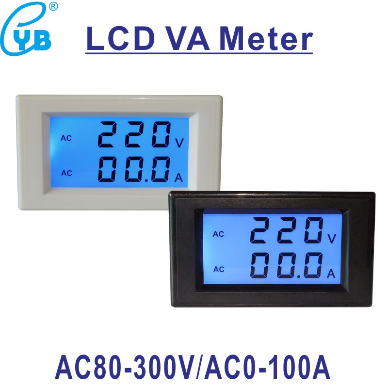 volt ammeter wiring ac 80 300v two wires lcd digital ac voltmeter ammeter d85 ac 0  lcd digital ac voltmeter ammeter d85 ac