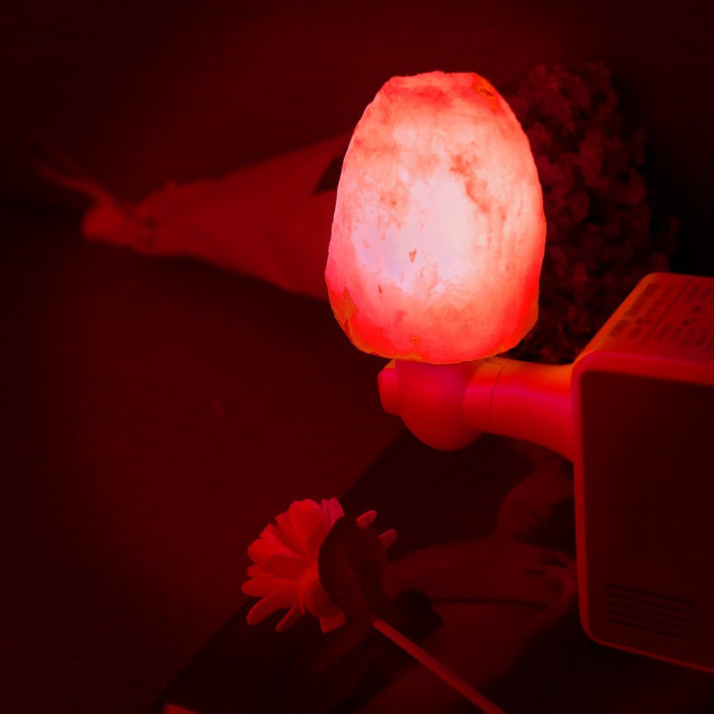 U.S. regulations Natural Multi-color Change Himalayan Salt Night Light Lamp,Mini Hand Carved Night Light for Home Decor