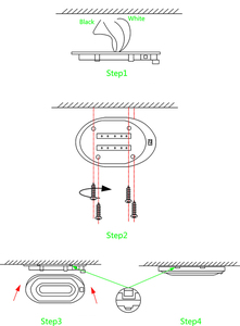 Image 5 - 4 W LED תקרת כיפת אור פלסטיק סגלגל תקרת מנורת עבור 12 V הימי סירת מוטורהום אבזרים