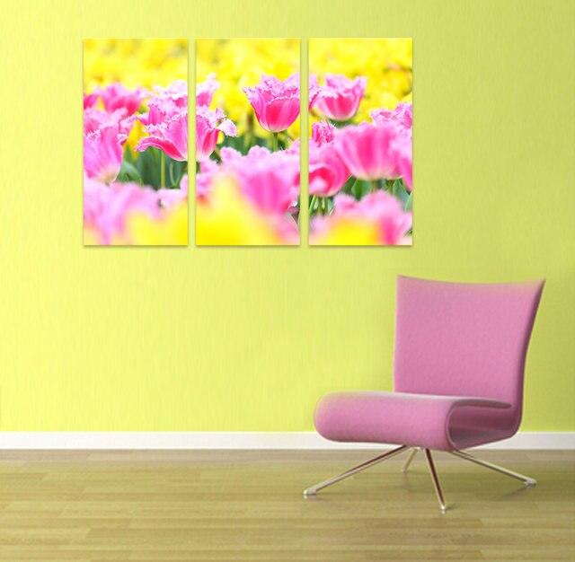 Excellent Pink Flower Canvas Wall Art Contemporary - Wall Art Design ...