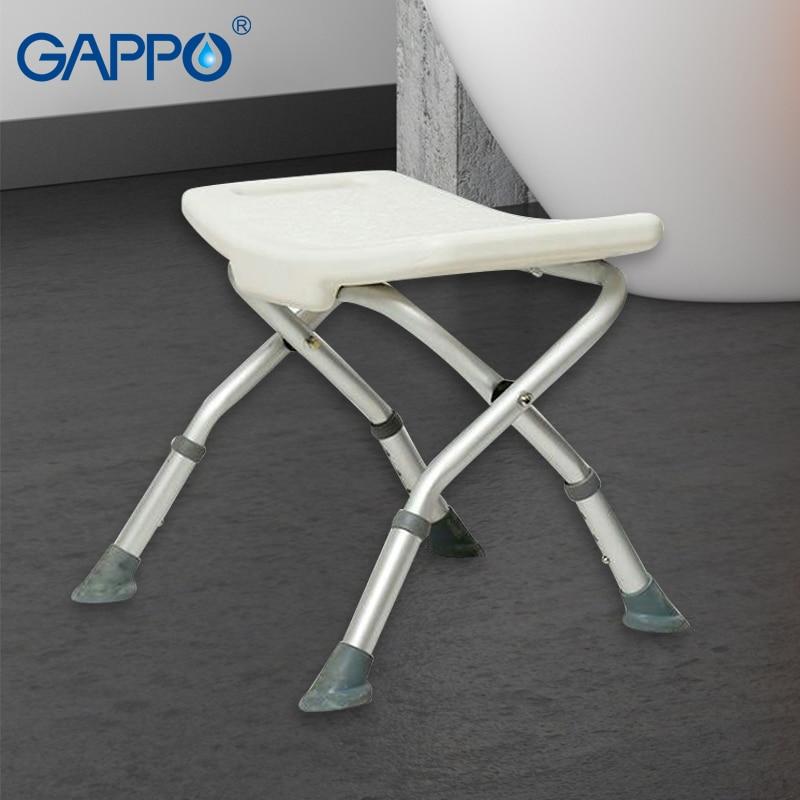GAPPO Wall Mounted Shower Seats Trainer bathroom Toilet adjustable folding bathroom seats toilet seats смеситель gappo g2245