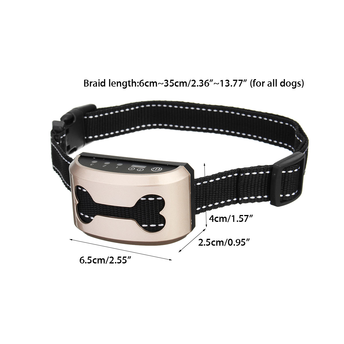 Rechargeable and Anti Bark Dog Shock Collar for Dog Training with Remote and Voice Control 4