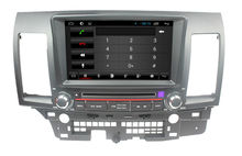 For 7 inch in dash capacitive Quad core Mitsubishi Lancer car dvd player GPS with WiFI+FM/AM Radio+BT phonebook+Canbus+USB/SD+3G