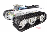 ESP8266 tracked robot chassis Tank toy car Wireless WiFi T100 aluminum alloy tank tracked vehicle remote control handset APP