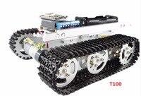 Esp8266 гусеничный робот шасси Танк игрушечных автомобилей Беспроводной Wi Fi T100 алюминиевого сплава Танк гусеничная машина пульт ДУ App