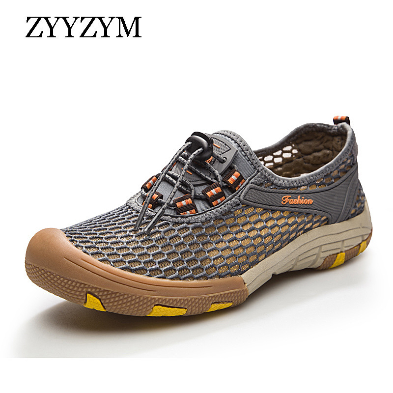 ZYYZYM Summer Men Mesh Shoes For Men Adult Casual Breathable Light Quality Outdoor Walking Sneakers Footwear Plus Size 39-47ZYYZYM Summer Men Mesh Shoes For Men Adult Casual Breathable Light Quality Outdoor Walking Sneakers Footwear Plus Size 39-47