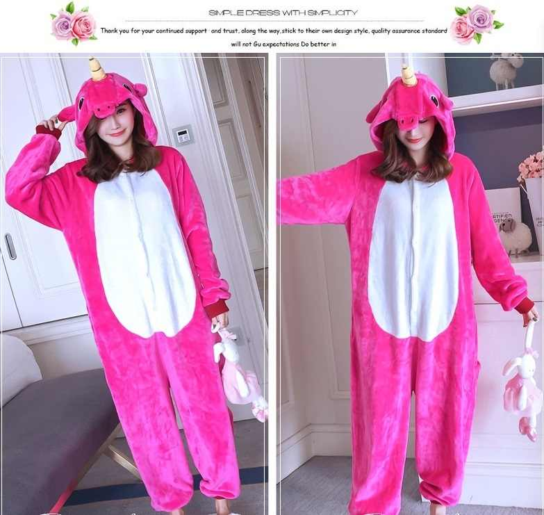 c35d300ceb0 Kigurumi Onesie Cosplay Wholesale Animal Unicorn Adult Unisex Women Pajamas  Hooded Sleepwear jumpsuit pokemon costume party