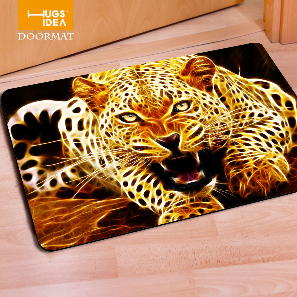 Fashion Leopard Floor Carpet Modern Living Room Carpets And Rugs Thin Welcome Door Mats Mouse Pad