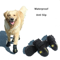2 Sets Big Dog Shoes Waterproof Anti Skid Slip Winter Warm Sports Shoes Non slip Rain Puppy Small Large Dog for Boots Chihuahua