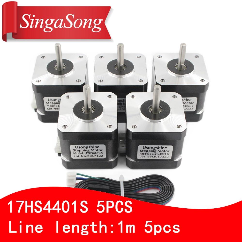 5 stücke/lot.3D drucker 4-leiter Nema17 Schrittmotor 42 motor Nema 17 motor 42 BYGH 1.7A (17HS4401S) motor für CNC XYZ