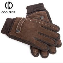 Ekran dotykowy zimowe ciepłe rękawiczki męskie oryginalne skórzane rękawiczki codzienne rękawiczki dla mężczyzn Outdoor Sport rękawica ze wszystkimi palcami ST030 tanie tanio Poliester Prawdziwej skóry Dla dorosłych Moda Nadgarstek Stałe CCOOLERFIRE Pigskin Pig Leather Genuine Leather Winter