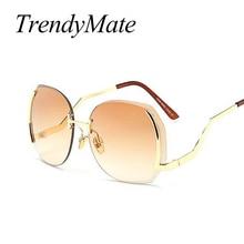 FREE SHIPPING Gold Frame Gradient Vintage Cat Eye Sunglass JKP988