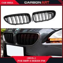Para 6 series 640i 650i F12 F06 F13 M6 Rendimiento diseño de Dos Lamas parrilla de fibra de carbono del coche 2011 2012 2013 2014