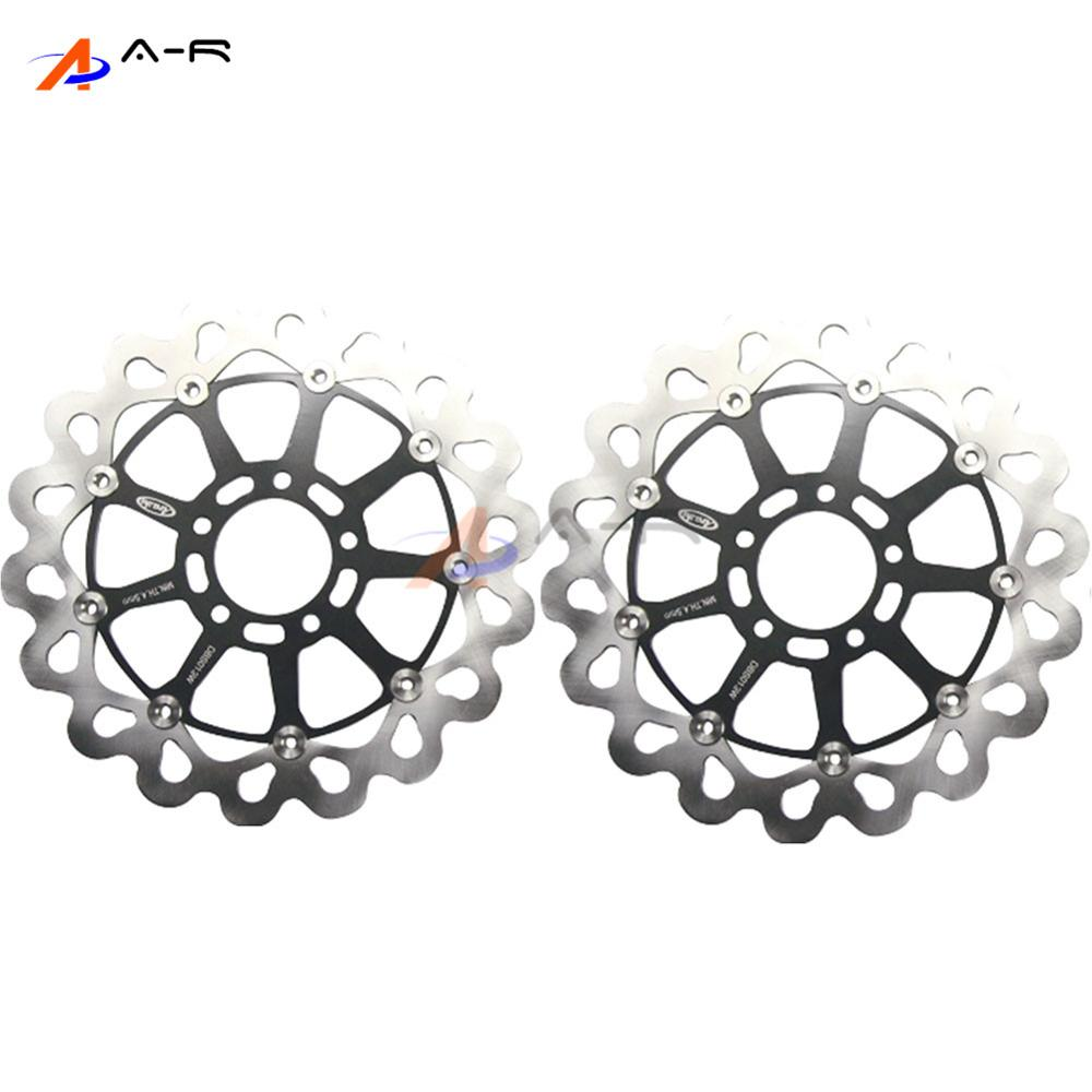 Front brake rotors disc braking disks l r for suzuki gsxr 600 750 tlr 1000