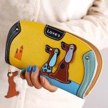 купить 2017 Latest Women Wallets Long Zipper Cute Cartoon Puppy Purse Female Coin Money Holders Bag Lady  Multi-card bit Clutch Wallets по цене 579.67 рублей