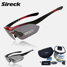 Sireck Cycling Glasses Polarized MTB Road Bike Glasses UV400 Cycling Sunglasses TR90 Sport Bicycle Glasses Gafas Ciclismo+5 Lens
