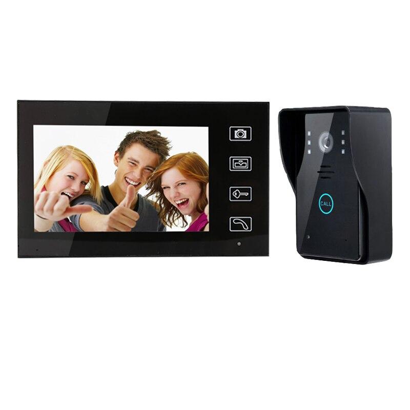 7 inch wireless intercom visual building intercom video doorbell phone Villa door intercom equipment Remote open electronic lock