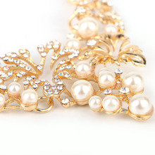 Match-Right Women Necklace Simulated Pearl Statement Necklaces Pendants Trendy Jewelry Necklace Women Accessories  KK029