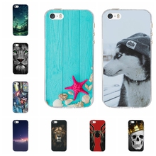 For Apple iPhone 5 5S SE Case Ultra-thin Soft TPU Silicone 5s Back Cover Sky Patterned se Funda