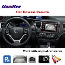Liandlee Auto Rearview Reverse Camera For Honda Civic  2011~2015 / HD CCD Rear Parking Back Camera Work with Car Factory Screen