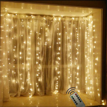 Remote Control 2*2M leds fairy string icicle led curtain light 180 bulbs Home Christmas Wedding new year garden party decoration