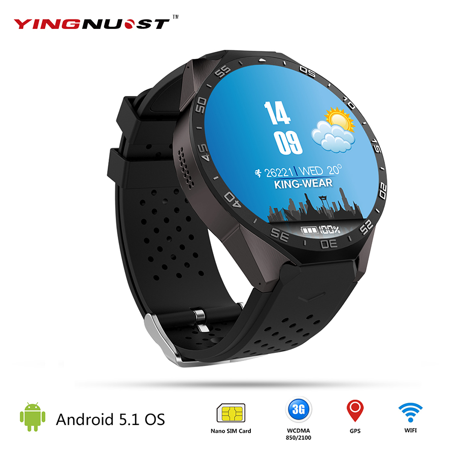 KW88 Android 5.1 OS Smart Watch 1.39'' MTK6580 Quad Core 1.3GHZ WIFI GPS 3G Phone SmartWatch With 2.0MP Camera Heart Rate Clock no 1 d6 1 63 inch 3g smartwatch phone android 5 1 mtk6580 quad core 1 3ghz 1gb ram gps wifi bluetooth 4 0 heart rate monitoring