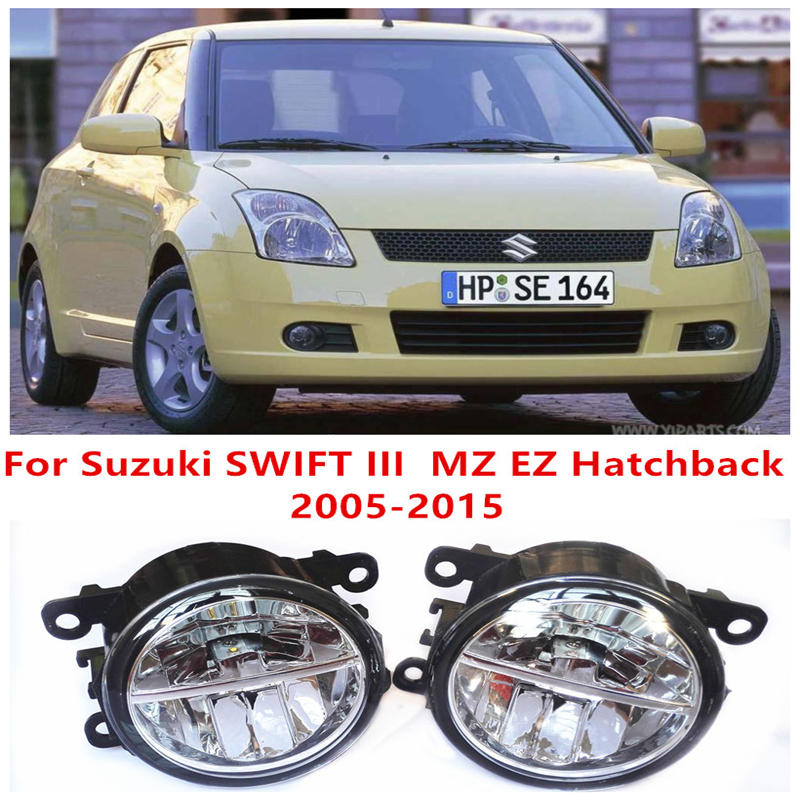 For Suzuki SWIFT III MZ EZ Hatchback  2005-2015 10W Fog Light LED DRL Daytime Running Lights Car Styling lamps cтеппер bs 803 bla b ez