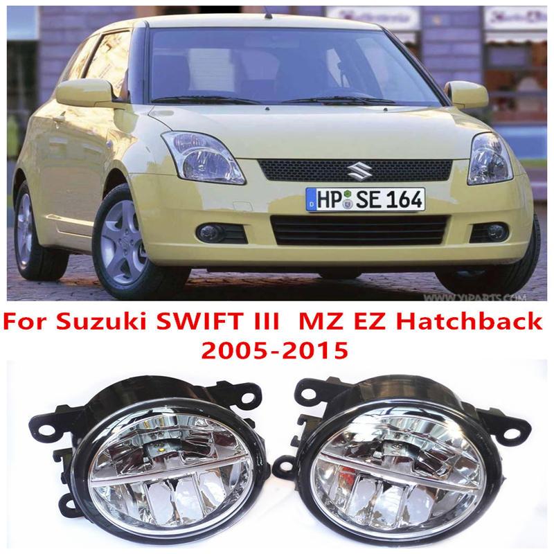 For Suzuki SWIFT III MZ EZ Hatchback  2005-2015 10W Fog Light LED DRL Daytime Running Lights Car Styling lamps for suzuki swift mz ez hatchback 2005 2015 10w high power lens fog lights car styling fog lights 1set