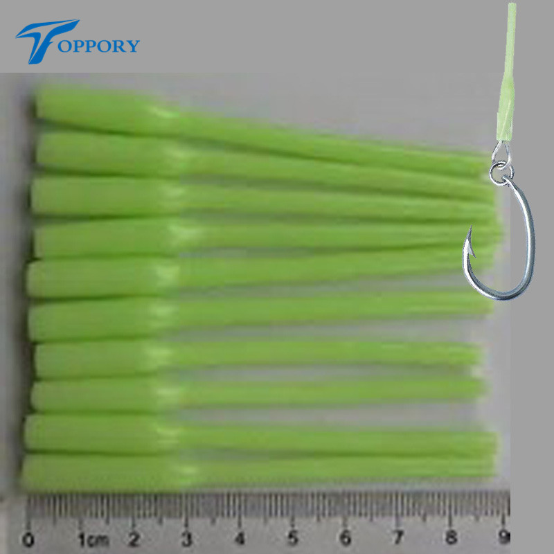 Toppory 20pcs 9cm Lumo Sleeve bright glow Luminous Sleeves Tube Attract fish and save rod tips night fishing lure making DIY
