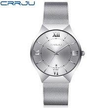 Top Luxury Brand CRRJU Men's Wrist Watches Stainless Steel M