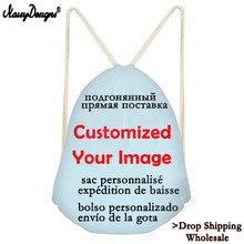 3D Customized Any Picture Travel Daily Drawstring Bags Women Outside Backpacks Kids Girls Customize Bags Drop Shipping Wholesale
