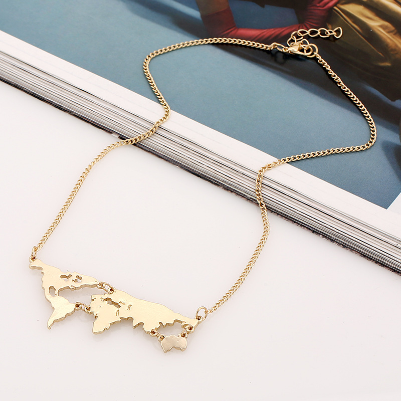 World map travel necklace aeproducttsubject gumiabroncs Image collections