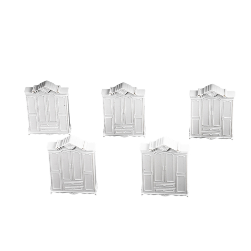 DSHA 1:25 White Wardrobe Closet Princess Dollhouse Clothes Accessories Micro-Landscape Bedroom Furniture(China)