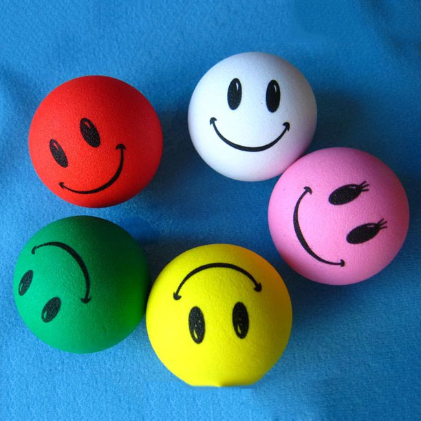 Candy Colors Smile Face Expression Cute Funny Cartoon Doll Antenna Balls EVA Aerial Topp ...