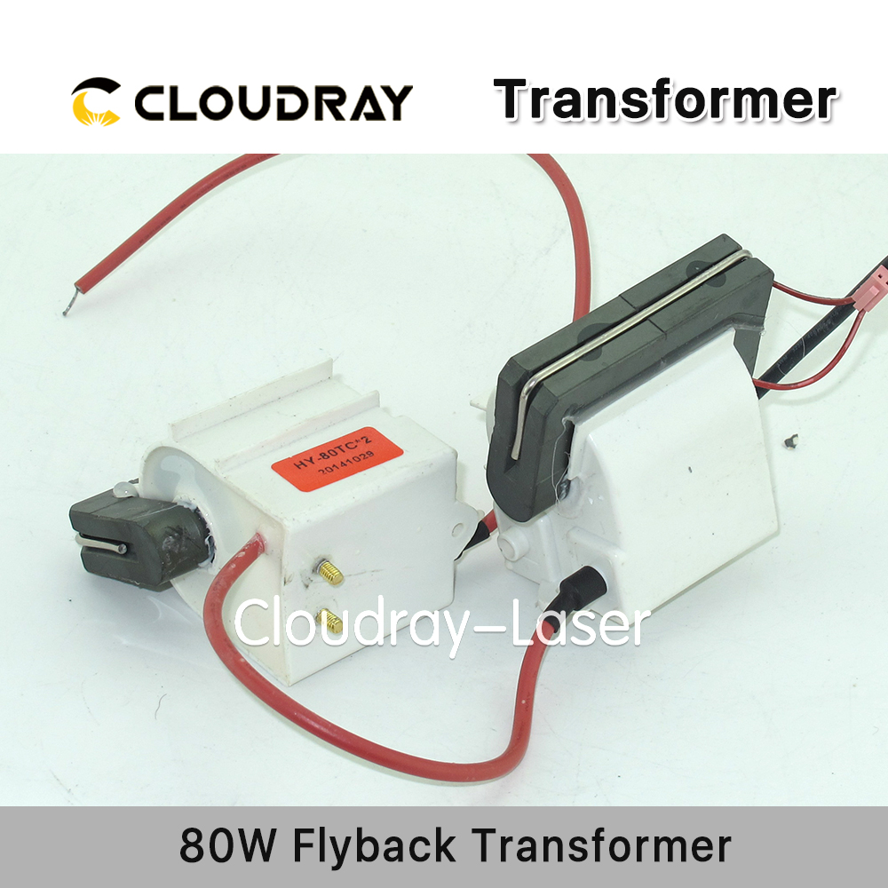Cloudray High Voltage Flyback Transformer for CO2 80W Laser Power Supply cloudray flyback transformer 220v to 110v autotransformer transformer for 80w co2 laser power supply flyback 80
